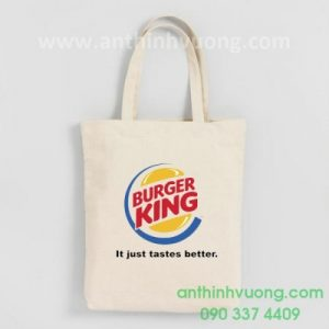 túi vải canvas burger king