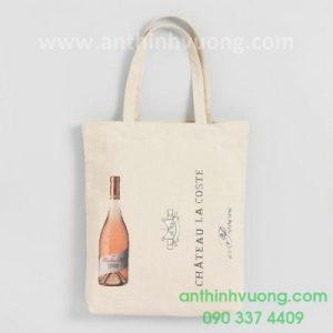 tủi vải canvas in thương hiệu rượu