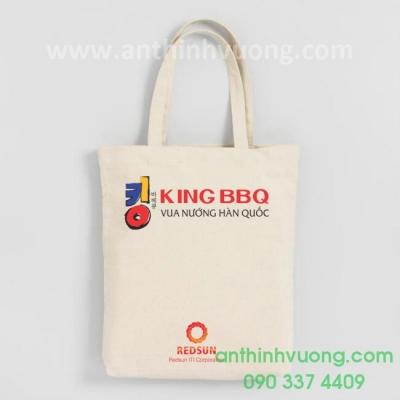 túi vải canvas nhà hàng king bbq