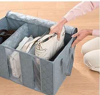 túi vải đựng quần áo 3 ngăn