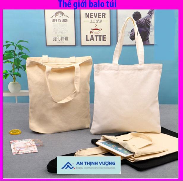Cách lựa chọn balo túi vải trơn chất lượng
