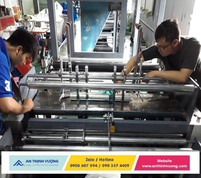 Quy trình sản xuất túi vải không dệt chất lượng cao