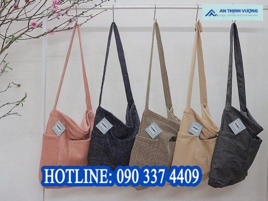 Xưởng may balo túi vải đeo chéo chất lượng tại thành phố HCM